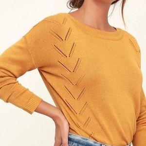 Lulu mustard yellow sweater